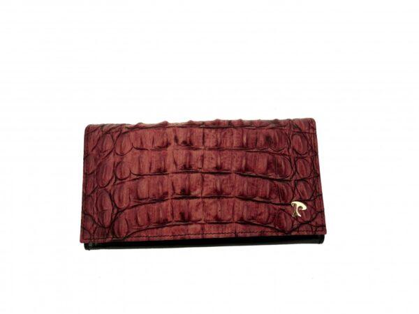 981 damska denarnica bordo kroko