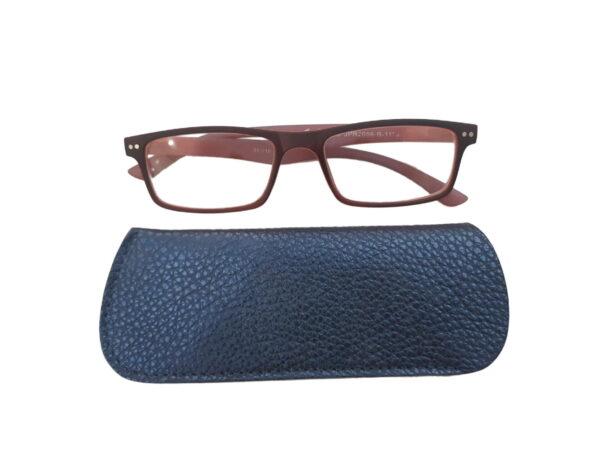 216 moder z očali