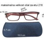 216 moder z očali mere